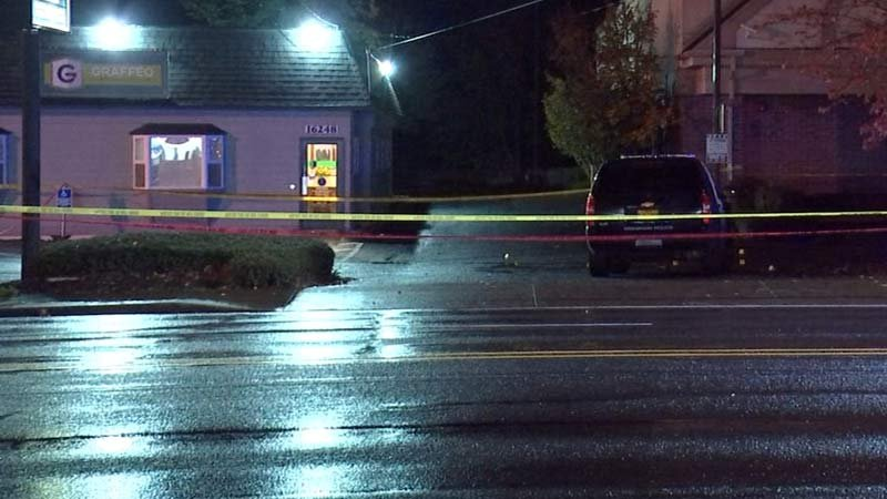 Scene of deadly shooting in Gresham last week. (KPTV)
