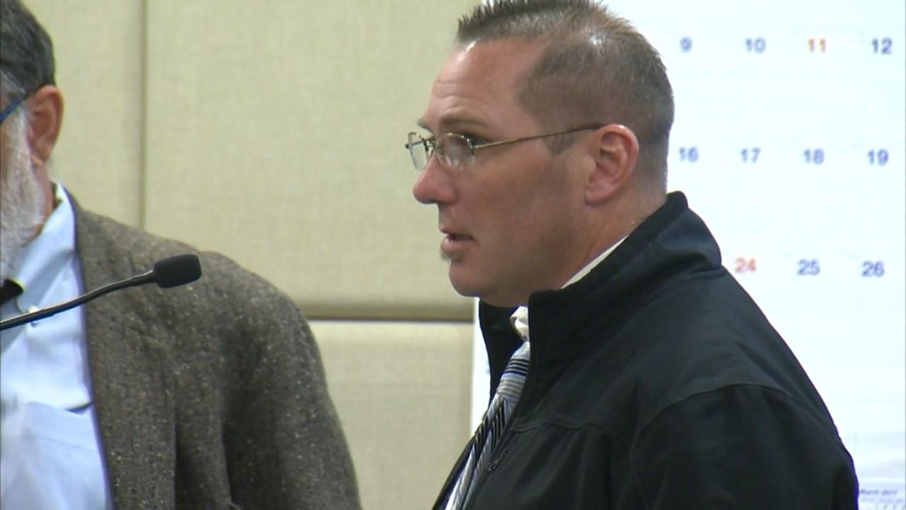 Joel Schrantz in court on Monday. (KPTV)