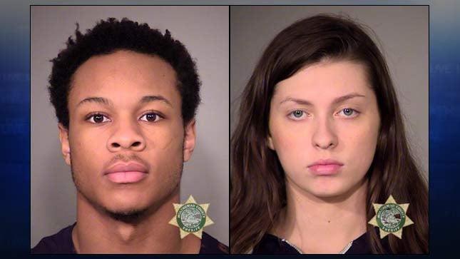 Saadiq Tajari Calhoun and Emma Morgan Ogden, jail booking photos
