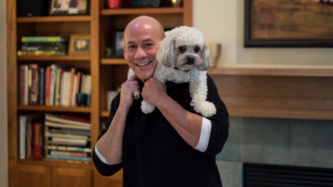Tony Martinez and his dog Mac