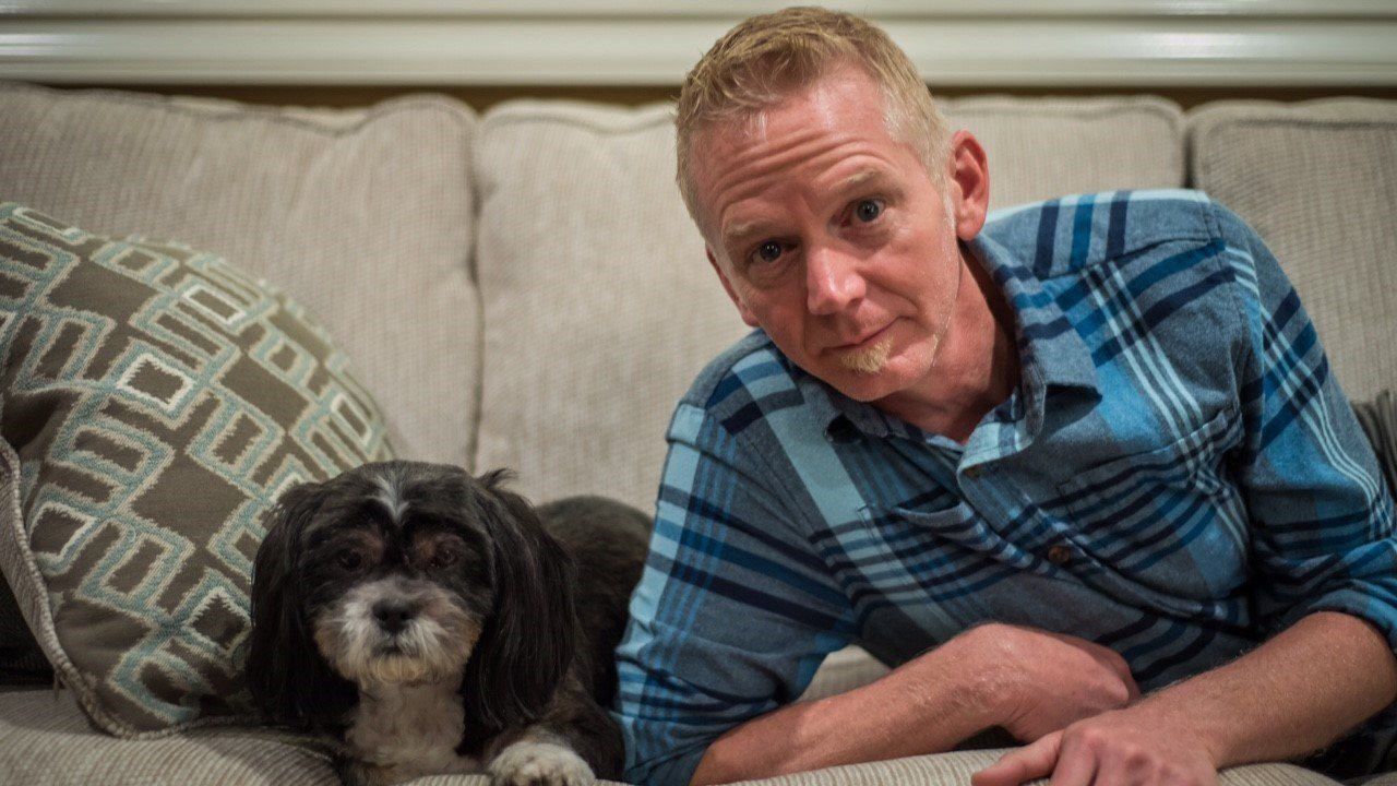 Andy Carson and his dog Toby