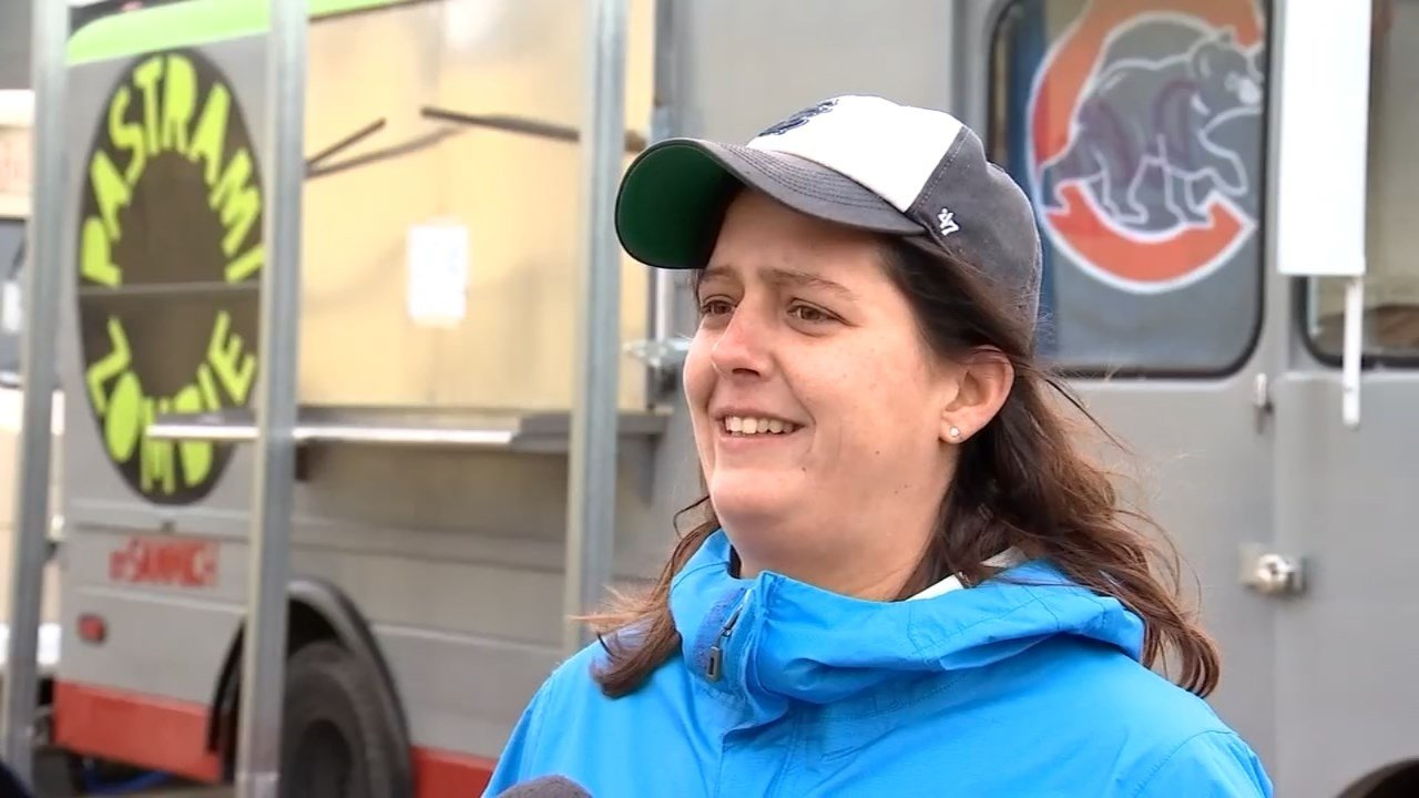 Melissa McMillan, owner of the Pastrami Zombie food truck. (KPTV)