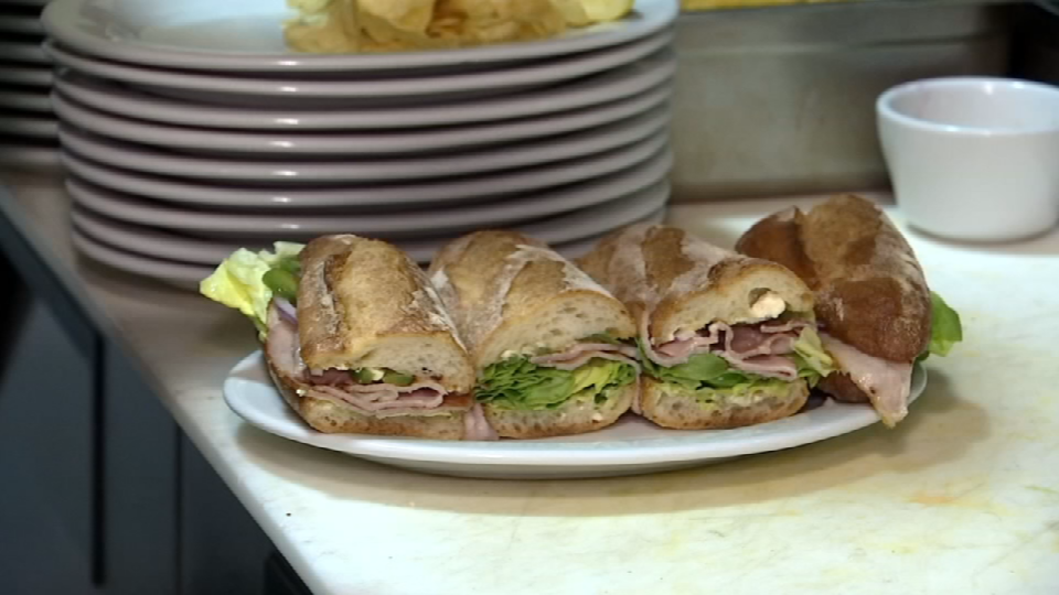 One of Bistro23's signature items is the Heisenberg, a sandwich with ham, avocado and jalapenos on a baguette.