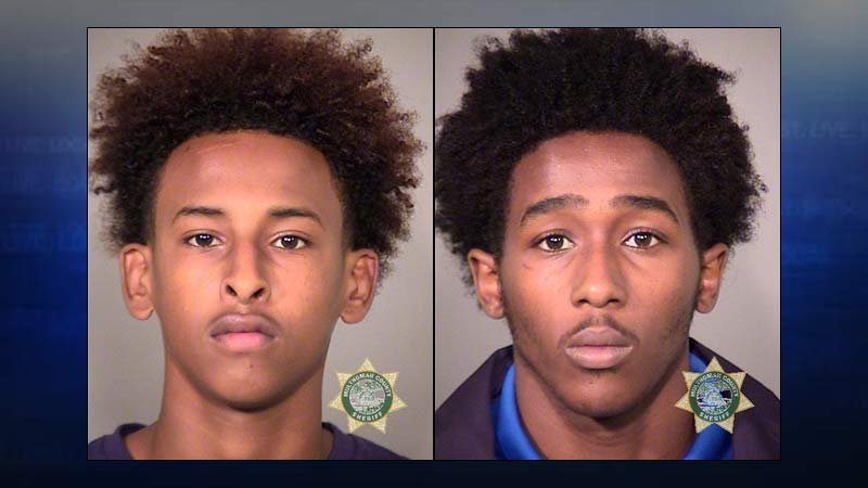 Mehamed Osman Ali and K'Shawn Davon Harris, jail booking photos