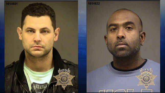 (Left to right) Travis Hendon and Sanchindra Nath, jail booking photos (Courtesy: Washington County Sheriff's Office)