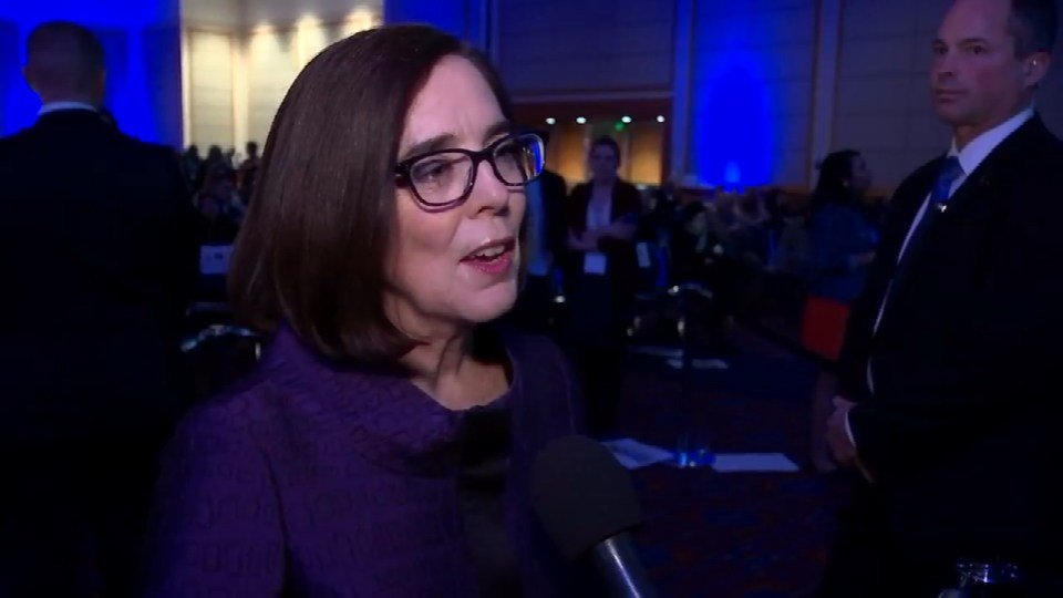 Gov. Kate Brown will keep her office for at least two more years after defeating Republican challenger Dr. Bud Pierce. (KPTV)