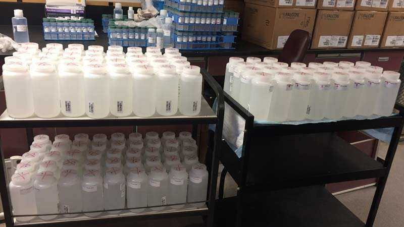 Water samples (Photo: Portland Water Bureau)