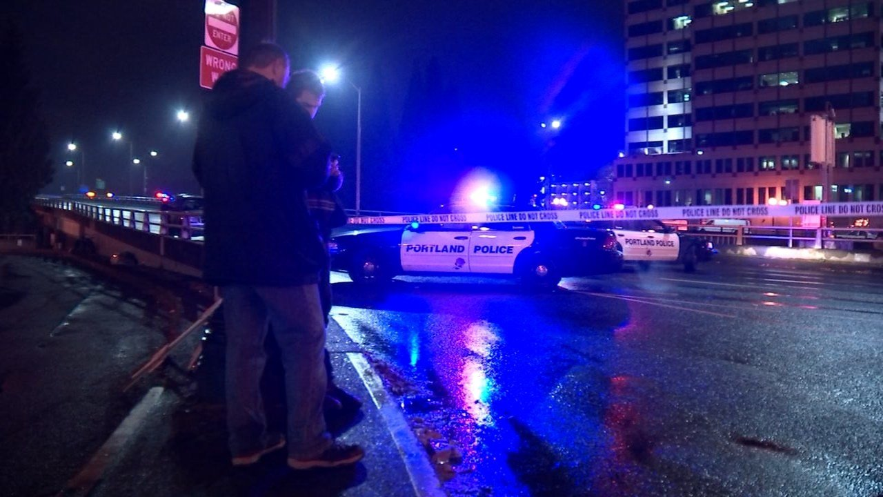 Morrison Bridge shooting scene (KPTV)