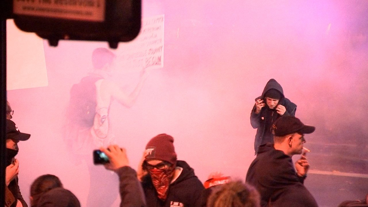 Friday night's protest in Portland. (KPTV)
