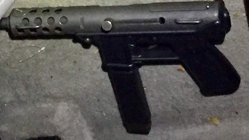 Photo of gun seized in investigation of protester shooting on the Morrison Bridge. (Image: Portland Police Bureau)