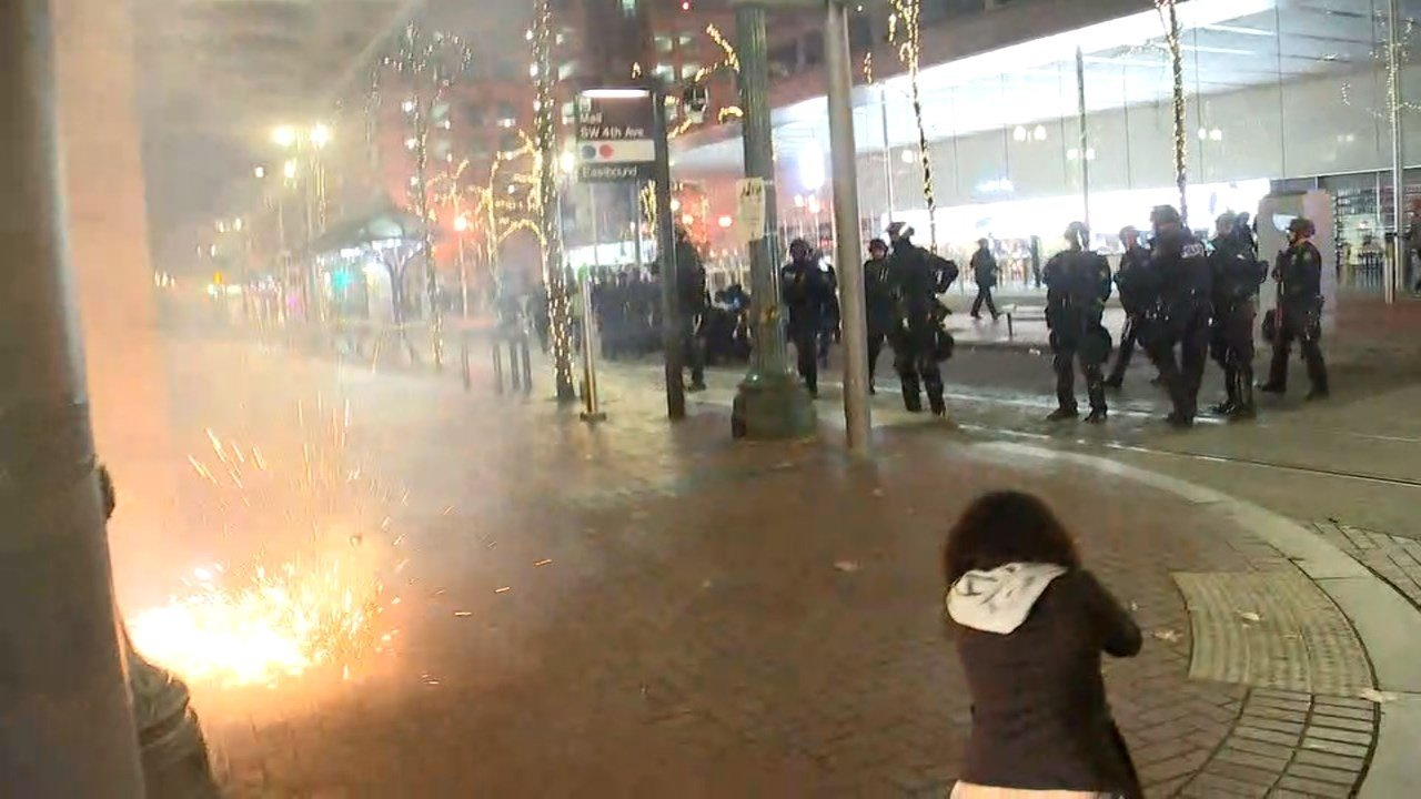 Image from last week's protests in Portland. (KPTV)
