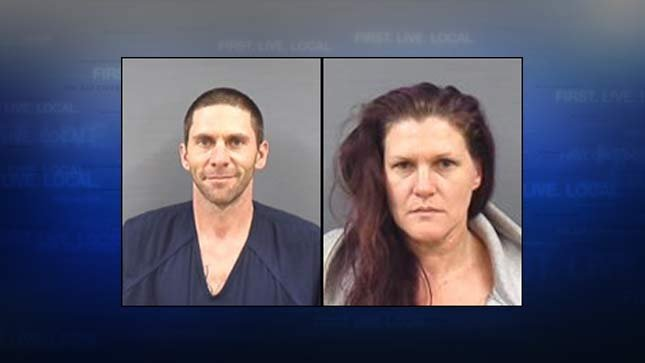 Christopher Allen Douglas and Patriscia Howard Beierle, jail booking photos