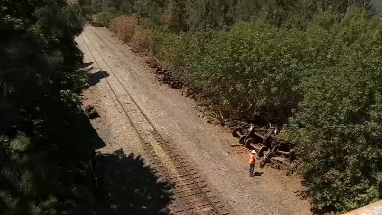 Site of the Mosier derailment five months ago. (KPTV)