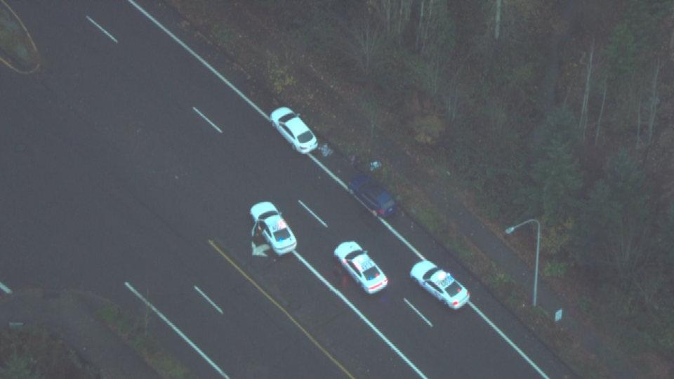 AIR 12 over scene in Clackamas County (KPTV)