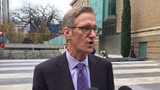 "Mayor-elect Ted Wheeler said Tuesday that ""Portland is not going to back track on our values,"" in regards to serving as a sanctuary city for immigrants and refugees despite campaign threats from president-elect Donald Trump. (KPTV)"