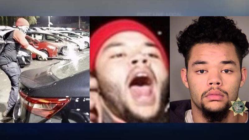 Mateen Abdul Shaheed, photos released by Portland Police Bureau. Latest jail booking photo on far right.