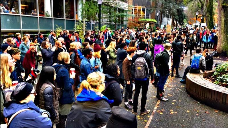 PSU protest (KPTV)