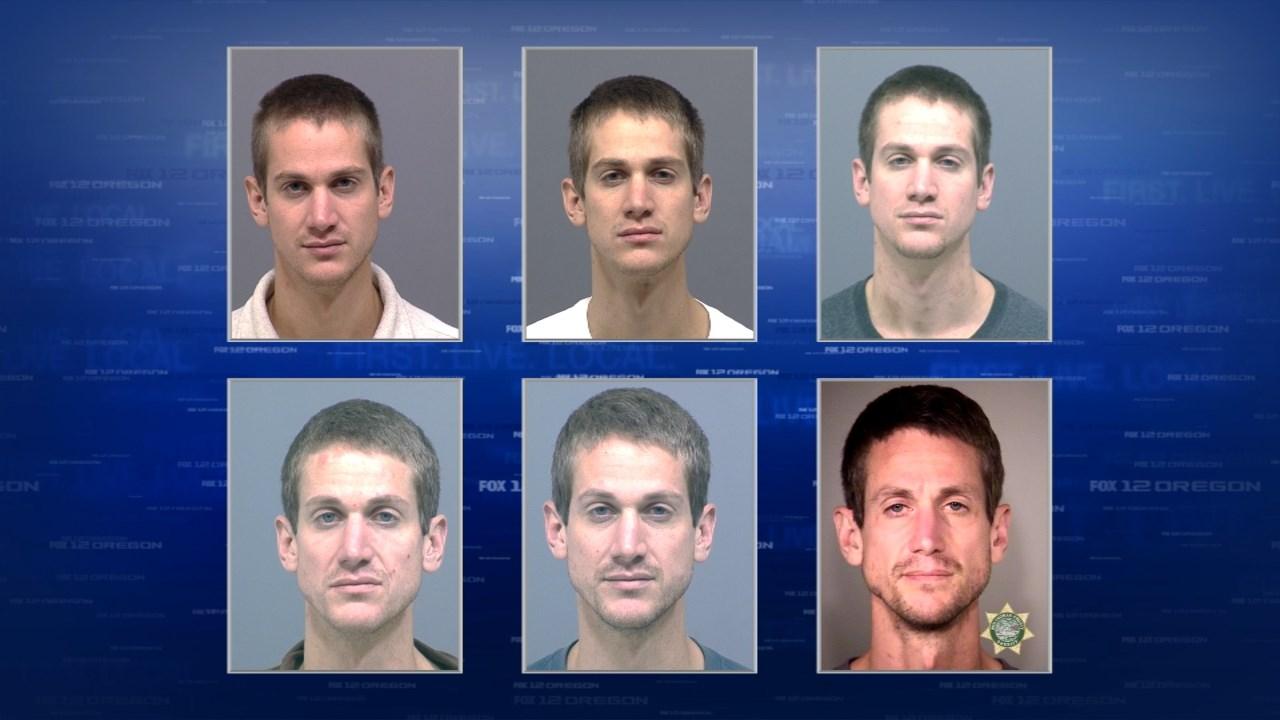 Prior jail booking photos of deputy shooting suspect Steven W. Wilson. (KPTV)
