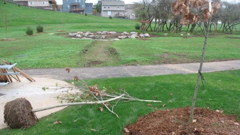 Sorenson Neighborhood Park damage (Source: Clark County Sheriff's Office)
