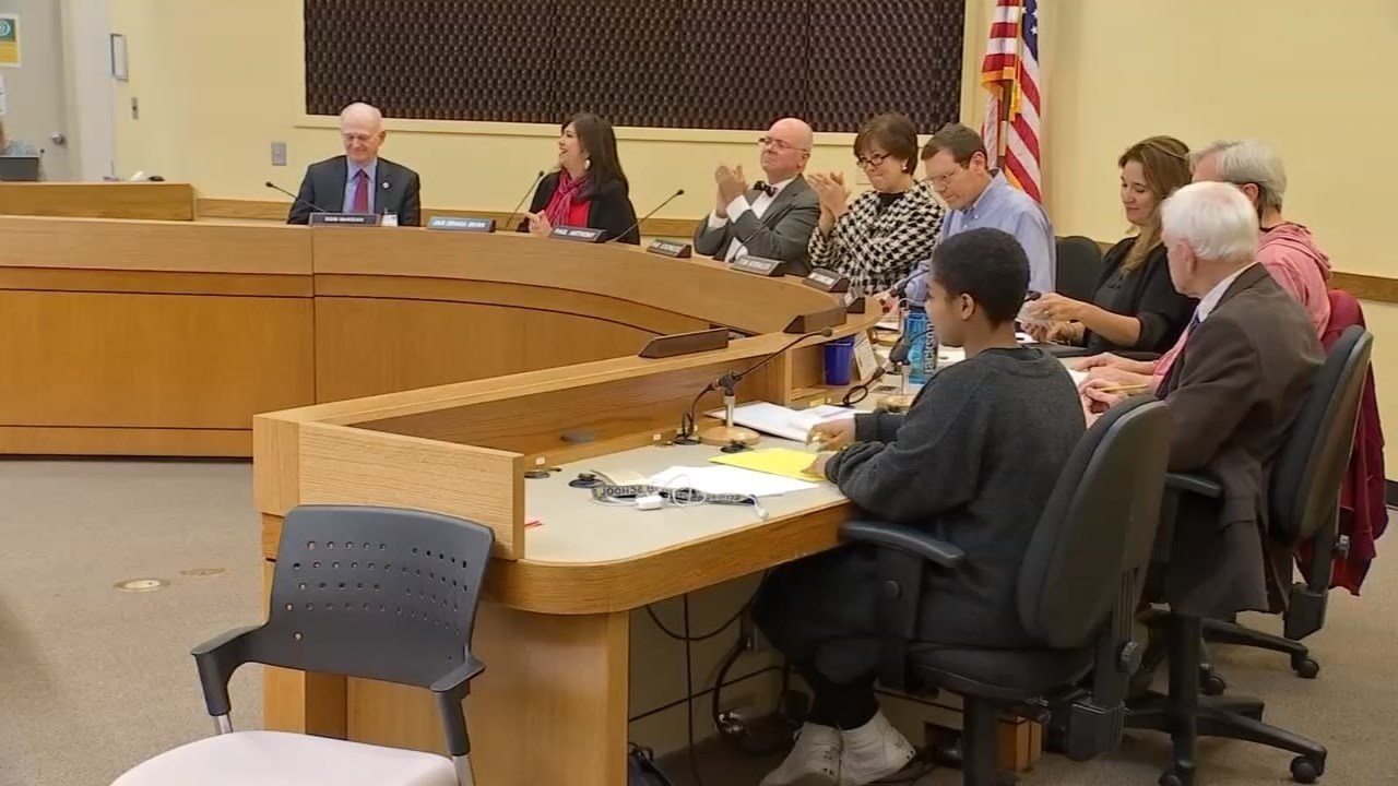 PPS Board celebrates the passing of a resolution that will protect undocumented students. (KPTV)
