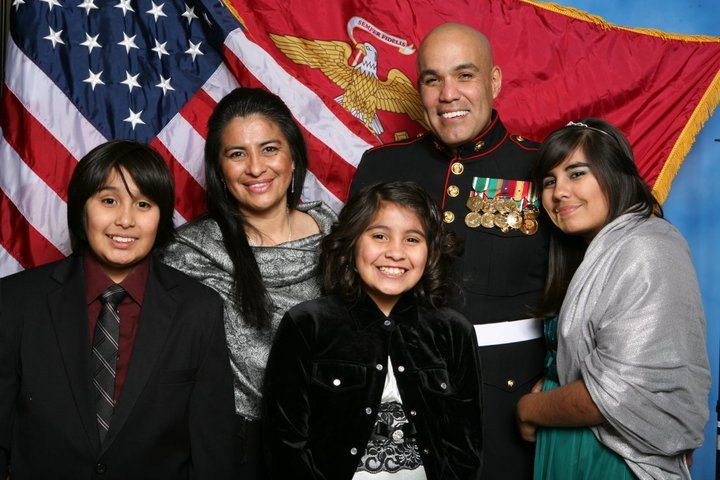 Leo Nunez and his family.