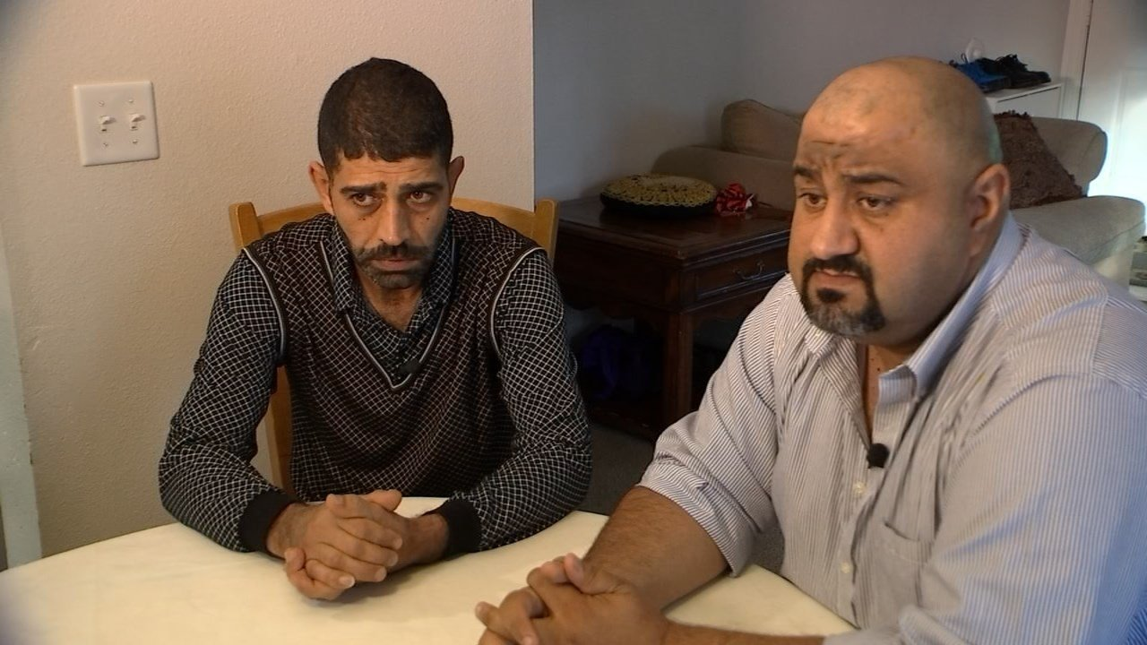 Raed Albaradam, left, arrived in Portland around eight months ago, after losing their home to mortar fire and going through nearly three years of screening. (KPTV)