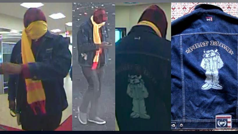 Gresham bank robbery suspect (Images released by Gresham Police Department)