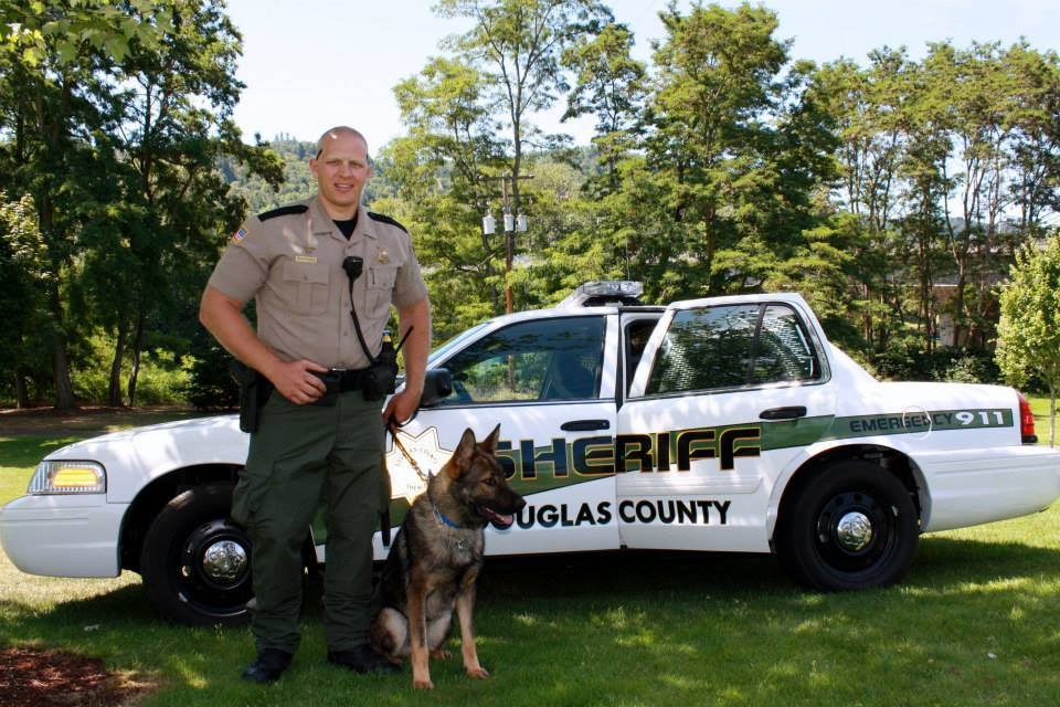 Deputy Jon Dorland and K9 Grim (Douglas County Sheriff's Office)
