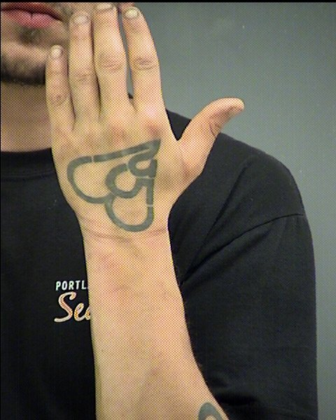 The Washington Co. Sheriff's Office said Emery has a distinctive tattoo on the back of his left hand that may assist people with identifying him. (Washington Co. Sheriff's Office)