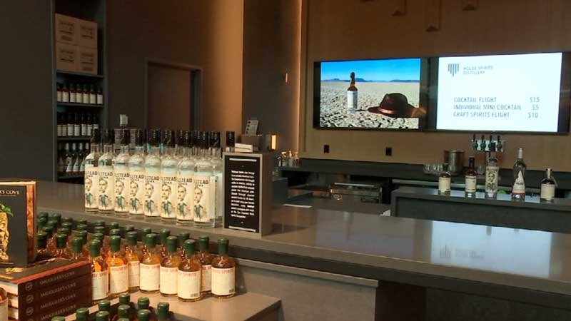 Portland-based House Spirits Distillery on Monday opened a new tasting room at PDX.