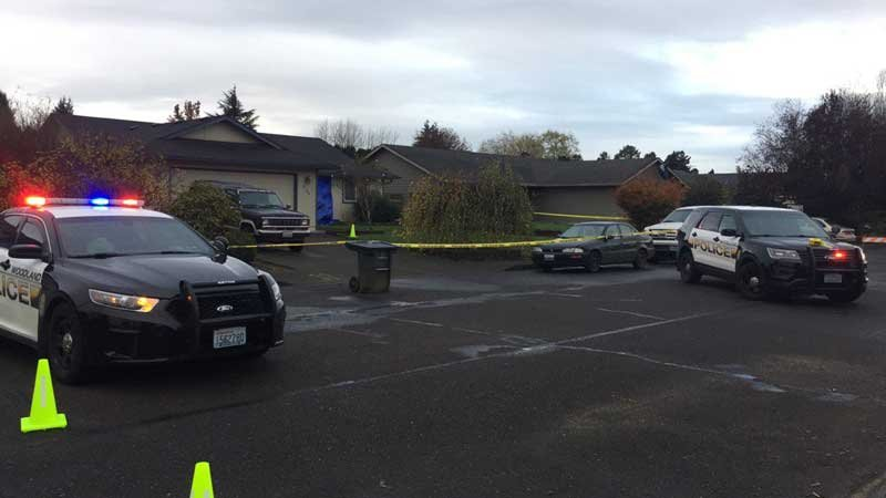 Homicide investigation in Woodland last month. (Source: KPTV)