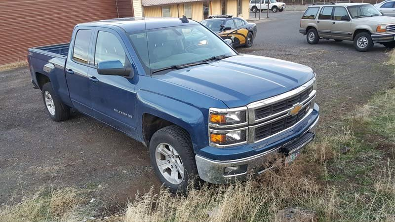 Police said the driver of this truck was involved in a road rage incident on Highway 97 south of Bend. (Photo: Oregon State Police)