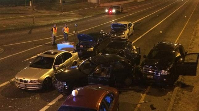 Deadly crash on I-205 off-ramp to Sunnyside Road in July 2015. (Photo: Oregon State Police)