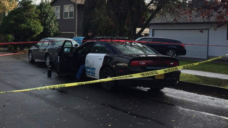 Deadly shooting scene in Gresham (KPTV)