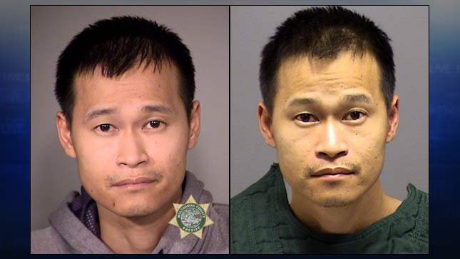 Long Thanh Vo, jail booking photos from Multnomah County and Clackamas County.