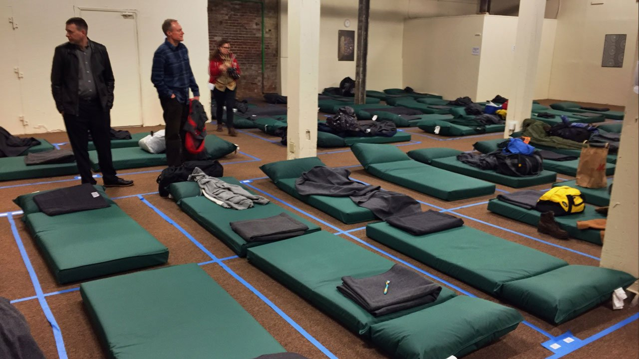 The new Peace II shelter will offer beds for around 100, with priority given to men over 55, veterans and the disabled. (KPTV)