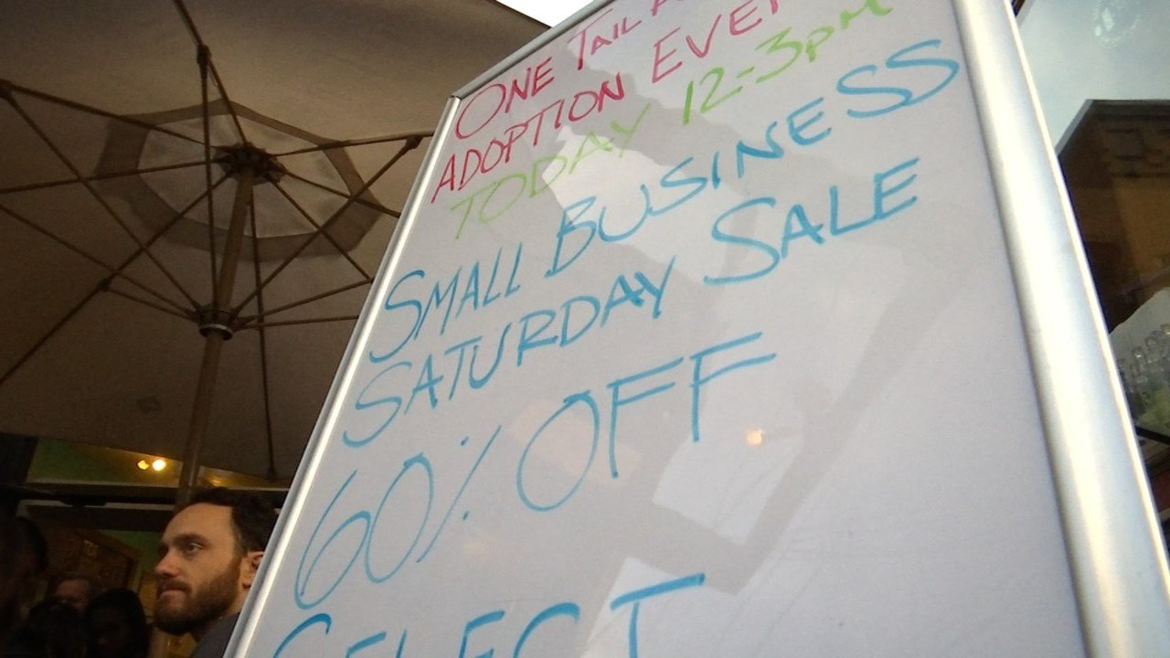 "Locally-owned stores saw waves of holiday shoppers buying local during ""Small Business Saturday"" in Portland. (KPTV)"