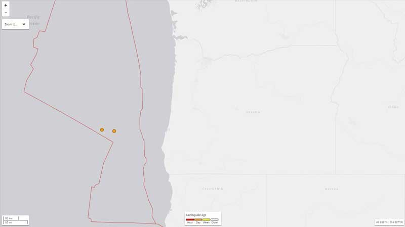 Photo from USGS earthquake map