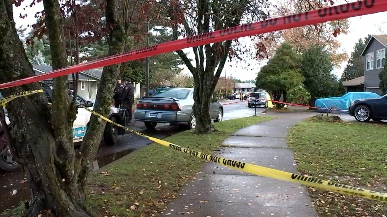 Scene of deadly shooting in Gresham on Wednesday. (KPTV)