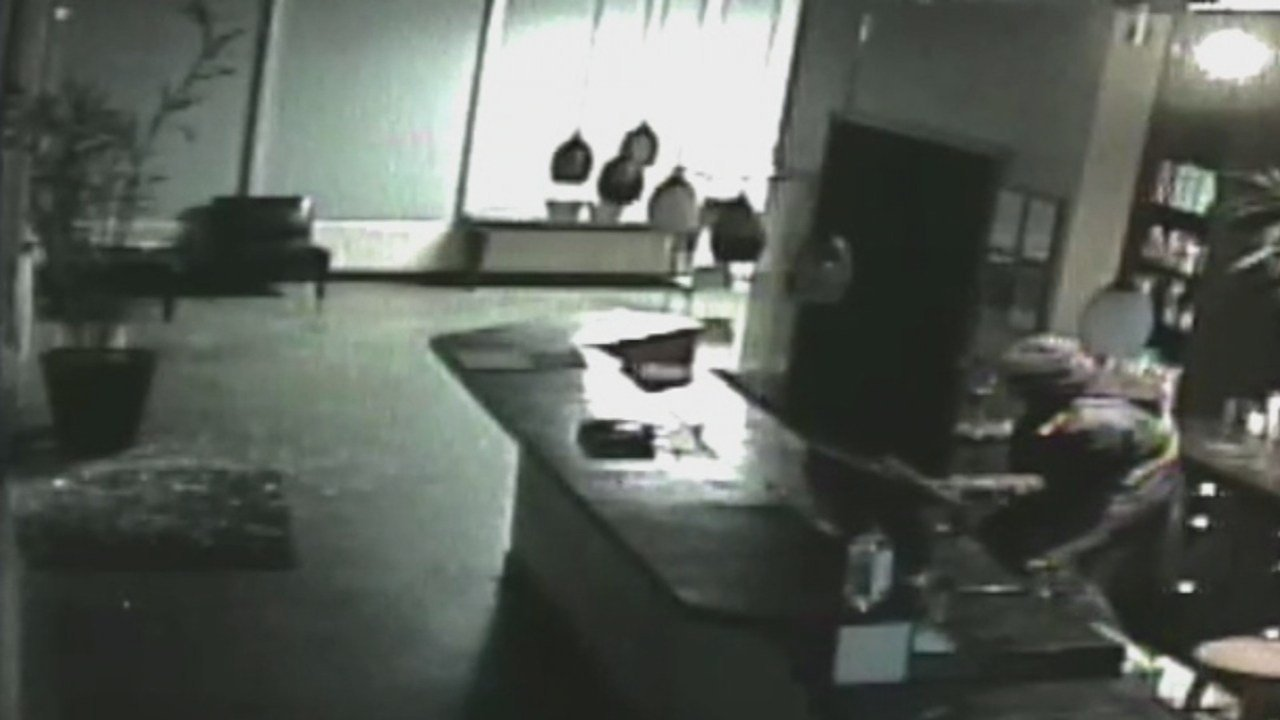 One of the suspects caught on surveillance.