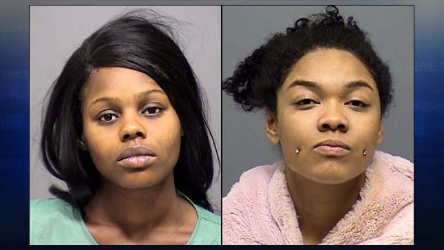 Chaniq Green, Nina Jackson, jail booking photos