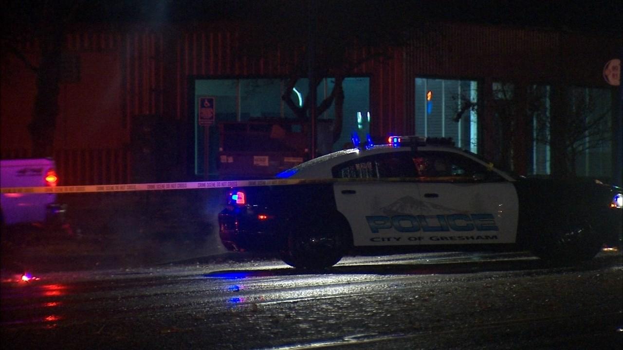 Deadly crash scene in Gresham on Monday. (KPTV)