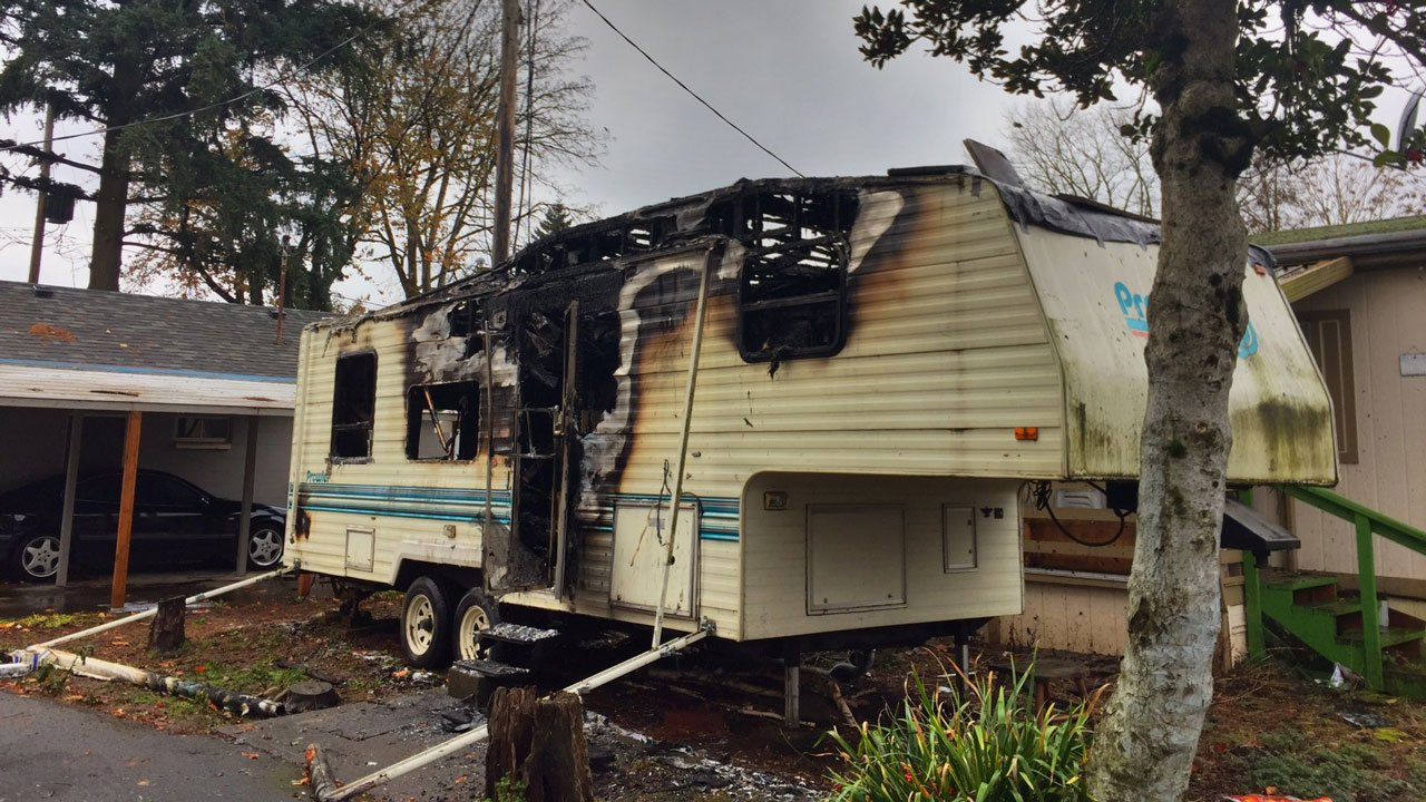 Fire crews credited a Portland man for saving the life of his 70-year-old neighbor from a trailer fire started by the older man smoking near an oxygen breathing tank. (KPTV)