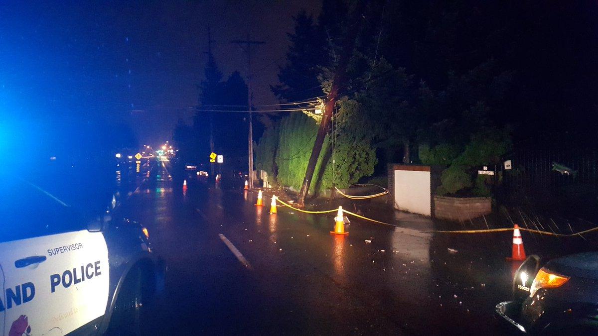 Crash at NE 102nd & Tillamook (Courtesy: Portland Police)