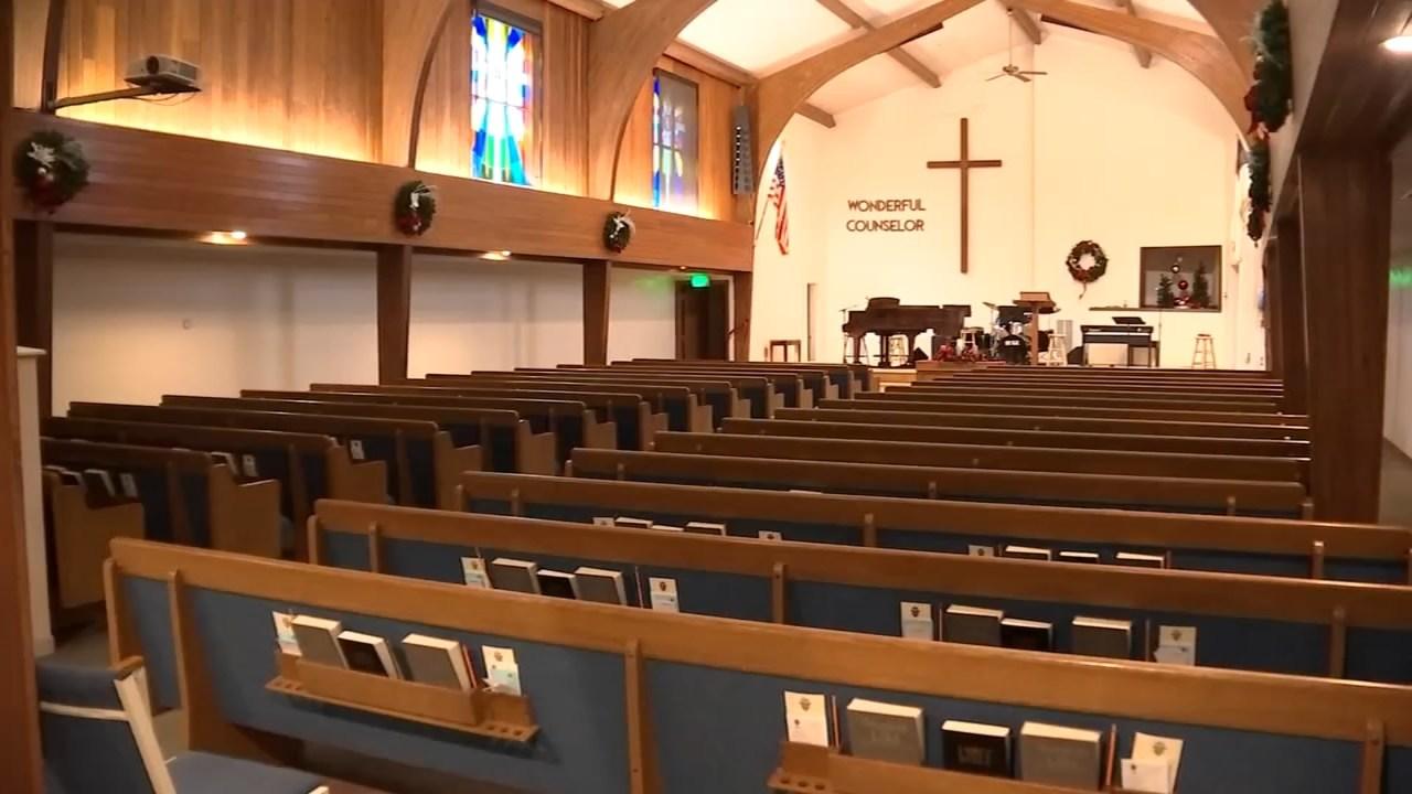 Oak Park Church of God in Salem has been burglarized twice in two months (Image: KPTV)