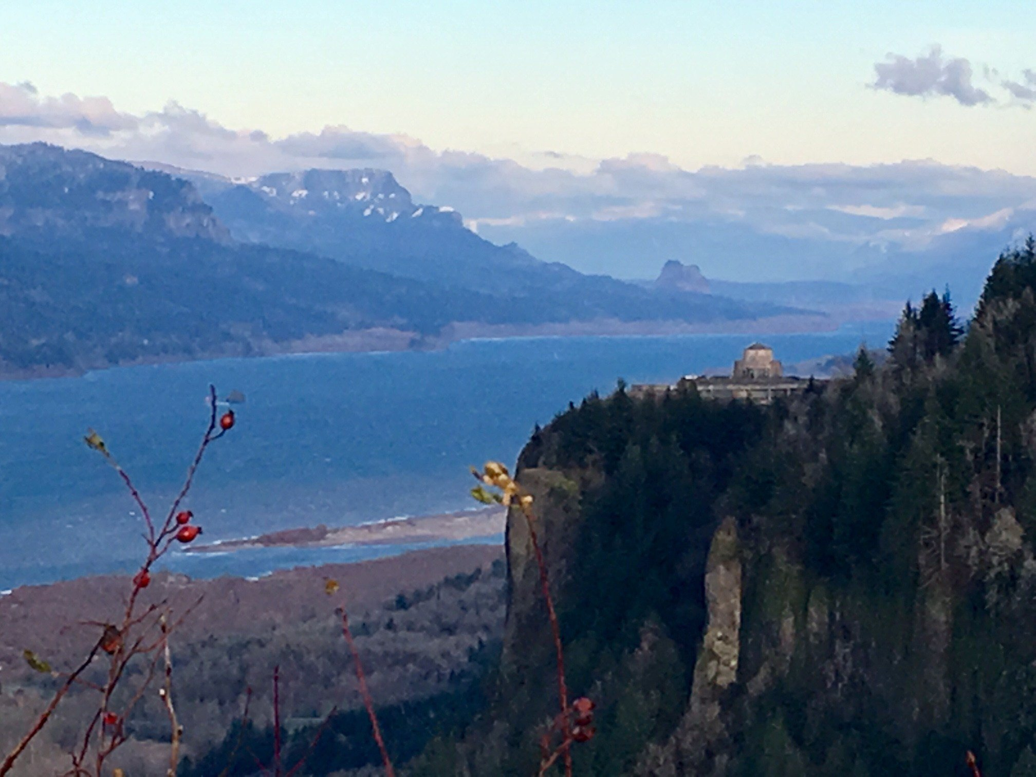 The Columbia River Gorge near Crown Point Wednesday. (KPTV)