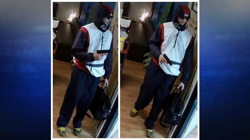 Marijuana Paradise armed robber (Images released by Portland Police Bureau)