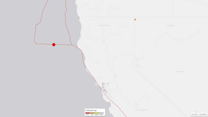 Map from USGS
