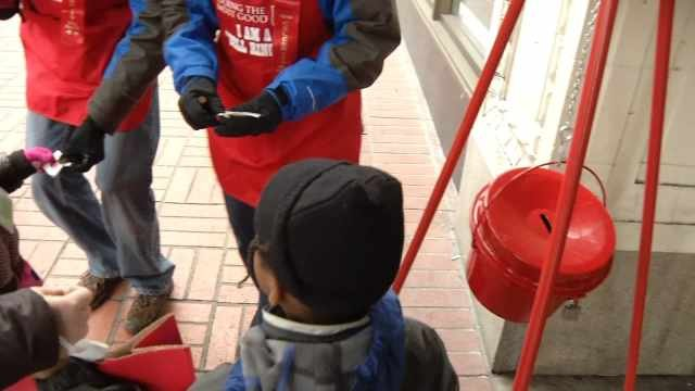 Salvation Army red kettle (KPTV file image)