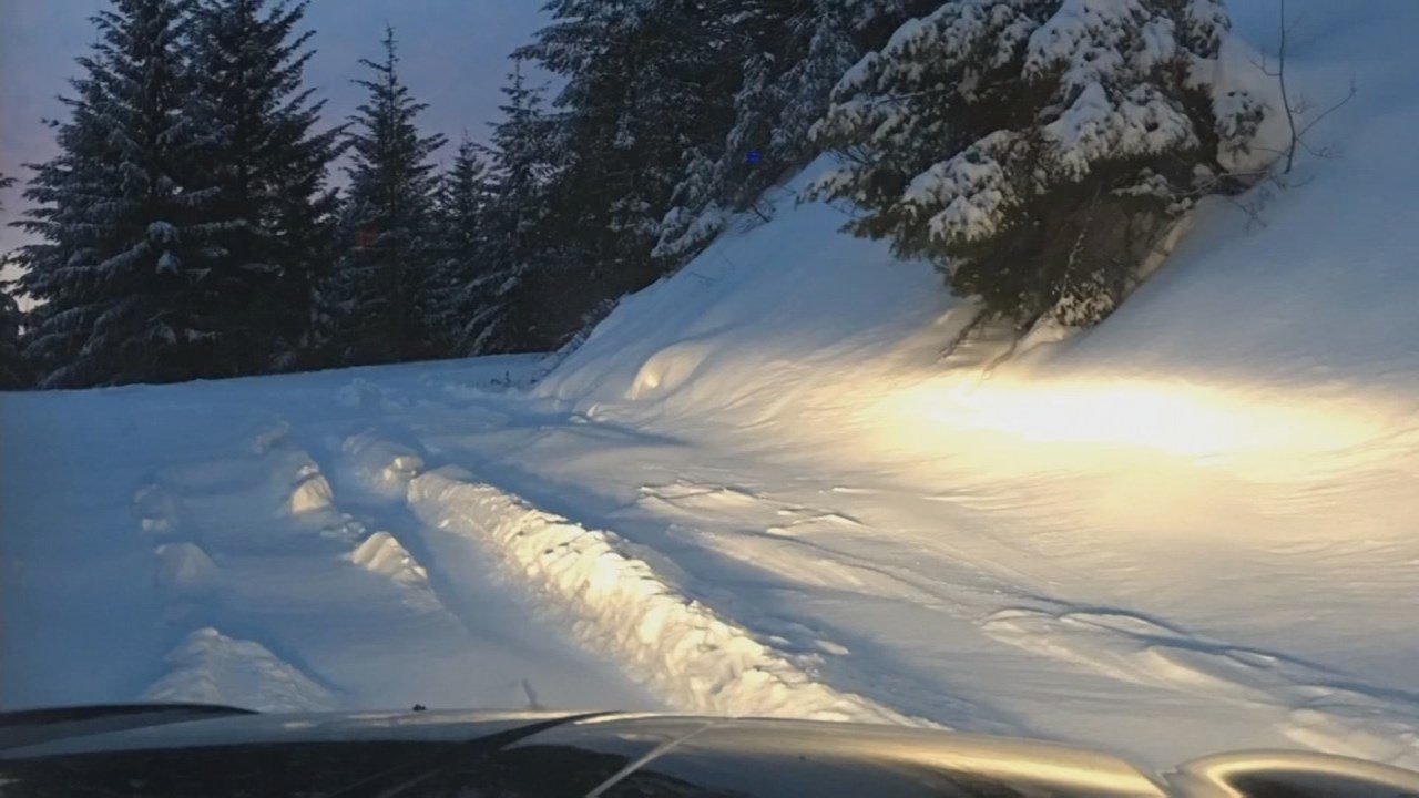 Photo taken by the family where they were stranded in the snow. (Courtesy: Family photo)